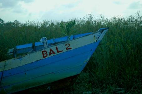 Boat on seawall