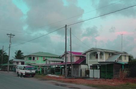 Houses on old railway line