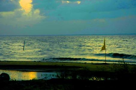 Vergenoegen seawall sunset