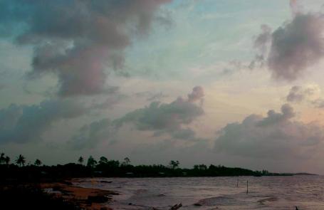 Vergenoegen shoreline at sunset